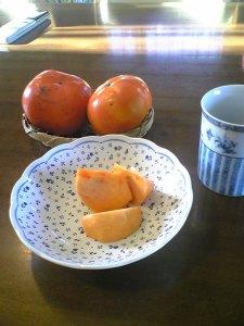 お土産の柿